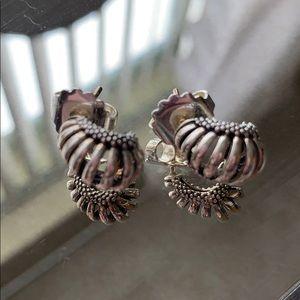 Lagos silver earrings